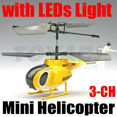 3- mini channel rc helicopter