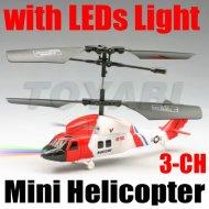 Mini rc 3- kanal hubschrauber mit led licht