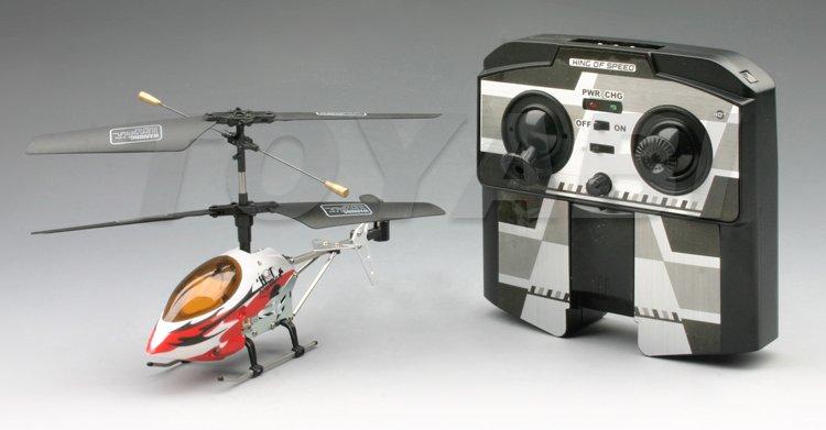 Mini rc 3- helicóptero del canal con leds de luz