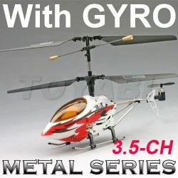 Hélicoptère de rc, mini rc 3.5- canal série metal hélicoptère avec gyro