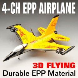 Mini 4-ch ppe rc f-16 fighting falcon avión con 3d volando