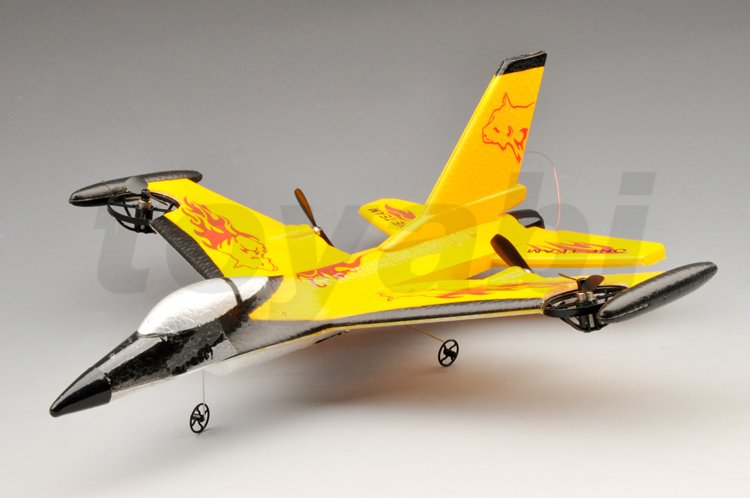Mini 4-ch ppe rc f-16 fighting falcon avión con 3d volando