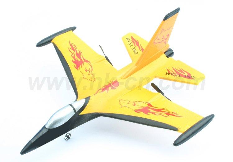 Mini 2-ch ppe rc f-16 fighting falcon aeronaves avión