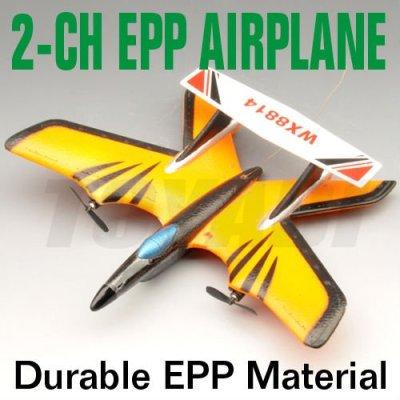 2-ch aviones rc avión con tres luces de vuelo