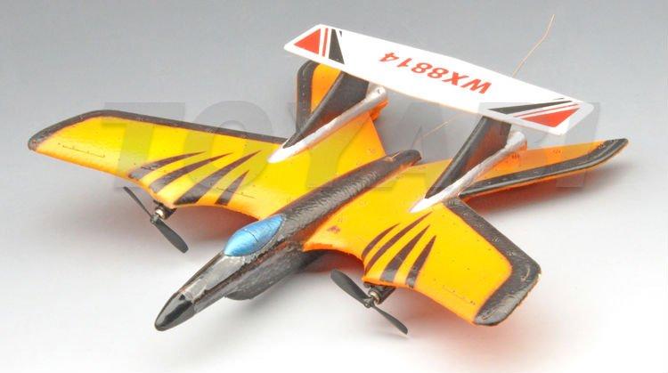 2-ch rc avion avion vol avec trois feux