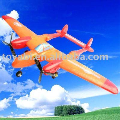 Epp p-38 mando a distancia de avión de combate juguetes