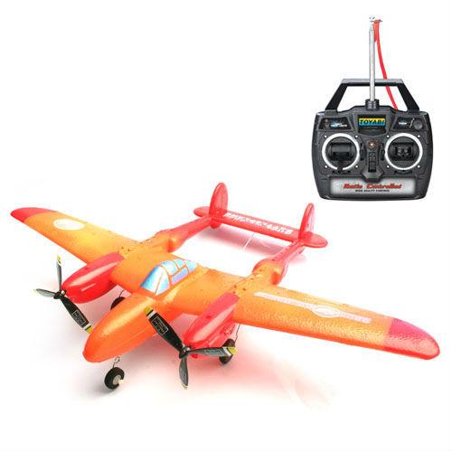 Epp p-38 mando a distancia de avión de combate juguetes rc avión/aviones modelo/avión rc