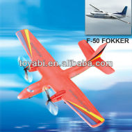 2ch ppe rc avión super historia f-50 forkker avión rc modelo de avión