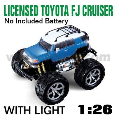 Bleu 1:26 échelle rc licence de voitures toyota fj cruiser avec des lumières led et 4 couleurs