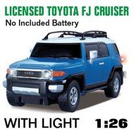 1:26 escala rc con licencia de coches toyota fj cruiser con luces led y 4 colores