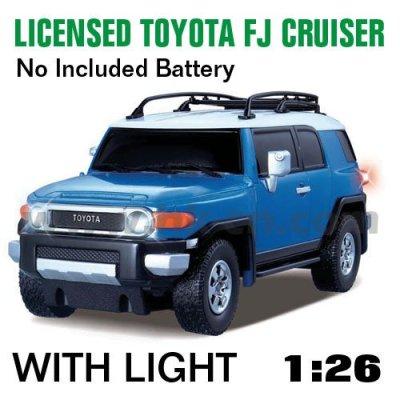 1:26 skala rc lizenzierte wagen toyota fj cruiser led-leuchten und mit 4 farben