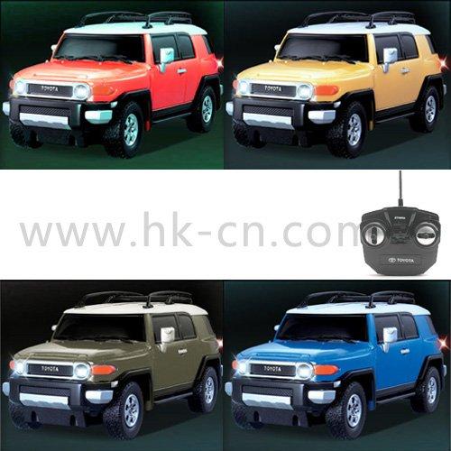 1:26 escala rc con licencia de coches toyota fj cruiser con luces led y 4 colores