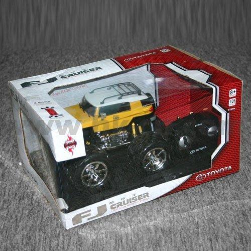 Toyota coche de juguete modelo, escala 1:26 con licencia de toyota fj cruiser con luces led y 4 colores