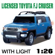 Azul escala 1:26 rc con licencia de coches toyota fj cruiser con luces led y 4 colores