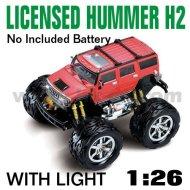 Rojo 1:26 escala rc con licencia de coches hummer h2