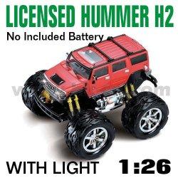 Rouge 1:26 échelle rc voiture hummer h2 sous licence