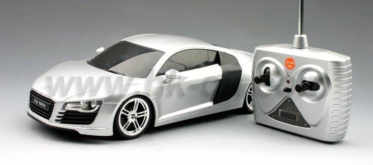 1:18 escala rc licencia r8 audi coche de juguete