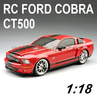 Coche del rc, 1:18 escala rc licencia ford cobra ct500 coche de juguete