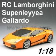 Coche del rc, 1:18 con licencia escala rc lamborghini gallardo supenleyyea coche de juguete