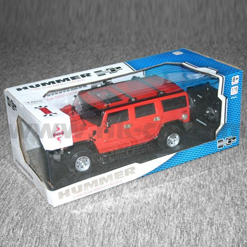 1:26 escala rc con licencia de coches hummer h2 con luces led y 4 colores