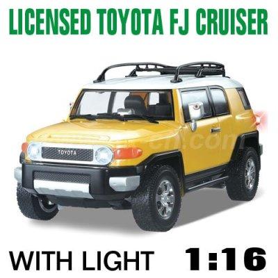Escala 1:16 toyota con licencia rc coche de juguete fj cruiser con luces led, toyota rc coche de juguete