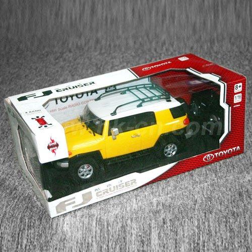 1:16 Échelle licence jouets rc voiture toyota fj cruiser avec des lumières led, toyota voiture de jouet de rc