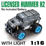 Maßstab 1:16 rc lizenzierten spielzeug auto hummer h2 4 farben und mit led-leuchten