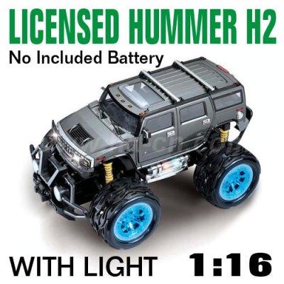 1:16 Échelle licence rc voiture de jouet hummer h2 avec des lumières led et 4 couleurs