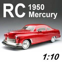 1:10 escala rc con licencia de mercurio 1950 coche de juguete