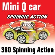Mini-q del coche, rc truco de coches, un lado 4 x 4 ruedas de conducción