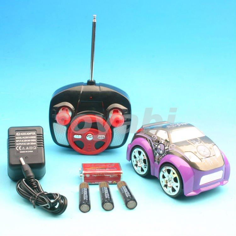 Q mini voiture, rc voiture stunt, d'un côté 4 x 4 roue motrice