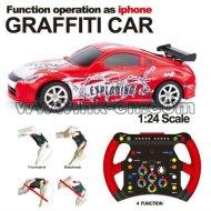 1:24 escala mini rc coche de carreras de coches de graffiti gravedad de detección de coches