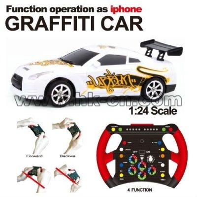 Maßstab 1:24 rc mini-rennwagen graffiti auto auto schwere sensing