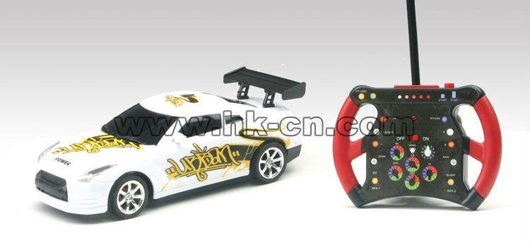 1:24 Échelle mini rc voiture de course graffitis voiture la gravité de détection de voiture