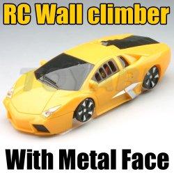 rc voiture grimpeur mur en métal avec le visage et la lumière led