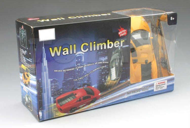 rc escalador de la pared del coche con la cara de metal y leds de luz