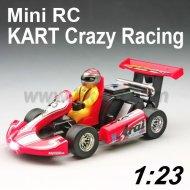 1:23 escala rc mini kart de carreras loco juguetes coche con led de luz