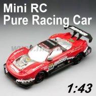 Maßstab 1:43 mini rc racing spielzeug auto reines desing premium qualität mit led licht