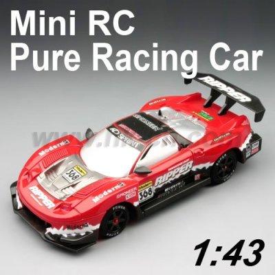 1:43 escala mini rc de juguete del coche de carreras de puro diseño de primera calidad con led de luz
