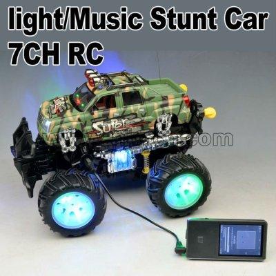 2012 7CH RCの発育阻害車360度の圧延またはライトまたは音楽rcのおもちゃ車