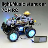 2012 7ch deslumbrar a la luz del rc truco de música del coche conmigo probar la función