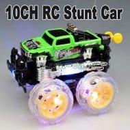 nuevo 2012 10ch rc 360 grado rotativos de truco de coches con la luz y la música