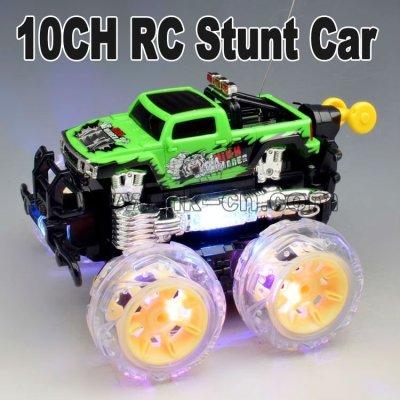 Nouveau 2012 10ch rc. 360 degree rotaryvernis stunt car avec la lumière et la musique