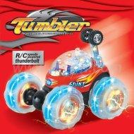 Kunststoff tumbler rc spielzeug mit blitzlicht, rc spielzeug