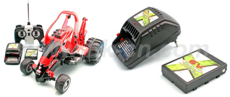 de radio control de coches dobles