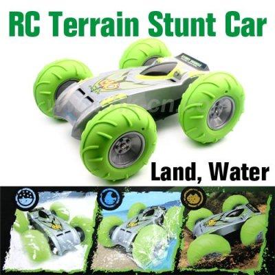 Voiture jouet en plastique, radiocommande stunt car tout terrain, rc voiture de jouet