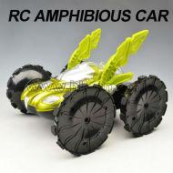 360 grado rotativos de rc truco de coches vehículo anfibio del coche del rc