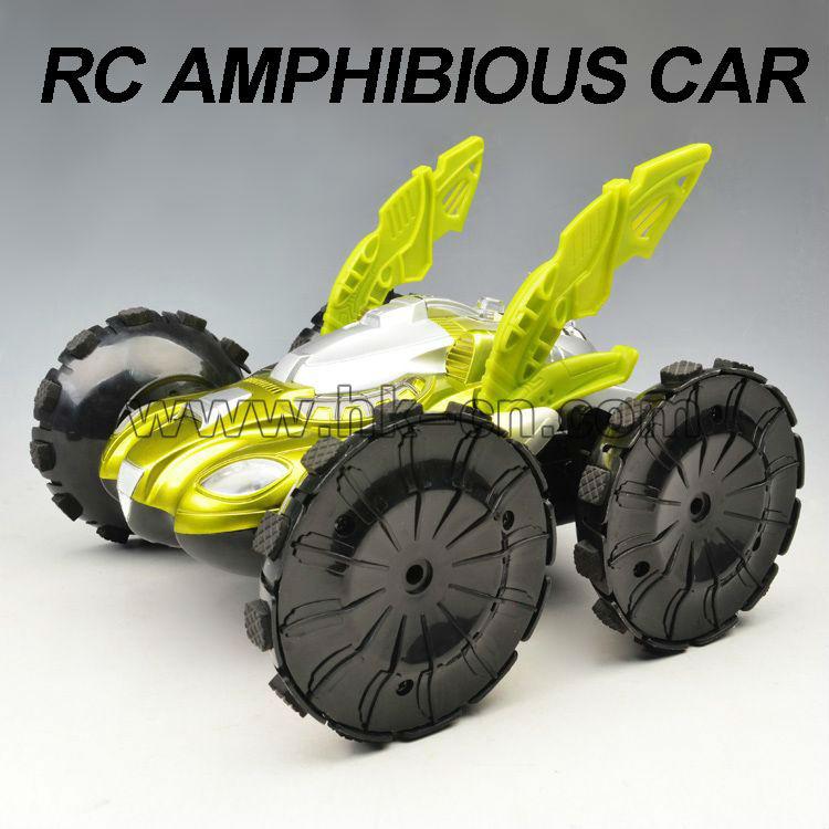 4ch truco de coches con las luces del rc coche anfibio