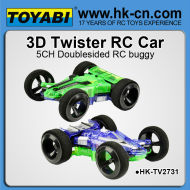 de diseño similar de silverlit 3d twister doble del coche del coche lado voltea racer rc truco de coches
