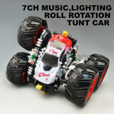 canal 7 tumbling monster rc camiones con música y luces